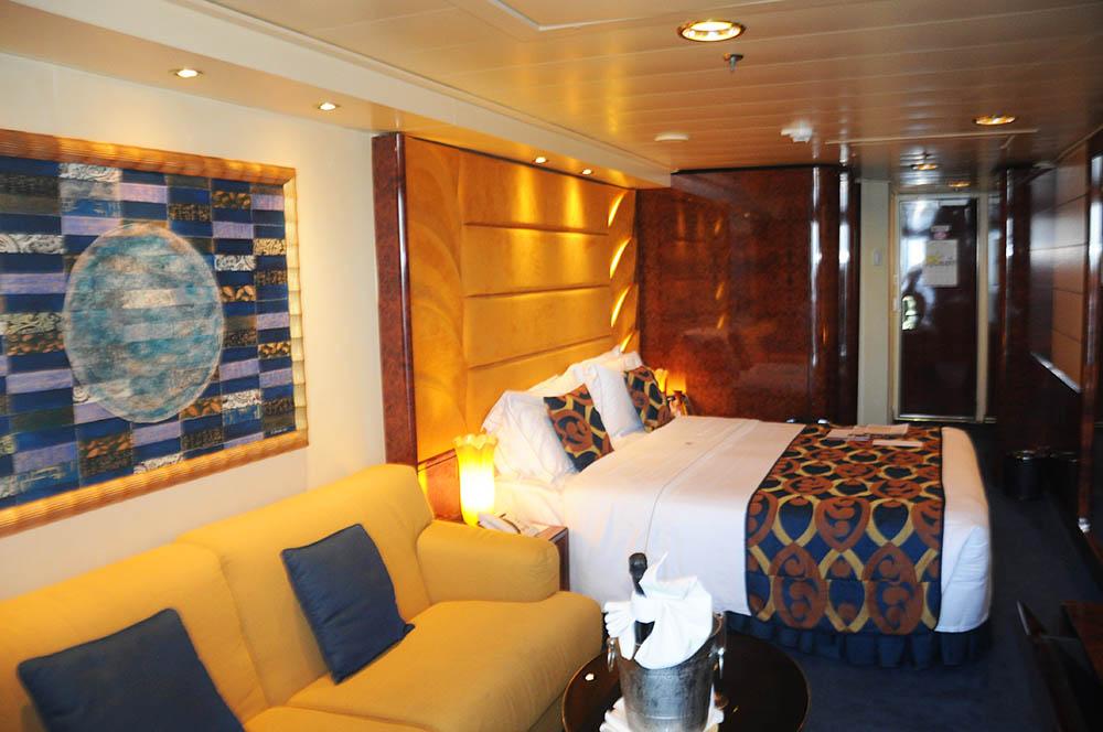Cabine padrão do MSC Yacht Club