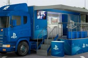 Caminhão da ação #PlayStationNaEstrada