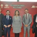 Davi Pinto, da embaixada do Brasil na Espanha, com Gilson Lira, Teté Bezerra, Alisson Andrade e Osmar Carvalho, da Embratur