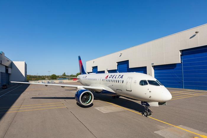 Frota da Delta dos A220 da Airbus deve chegar a 90