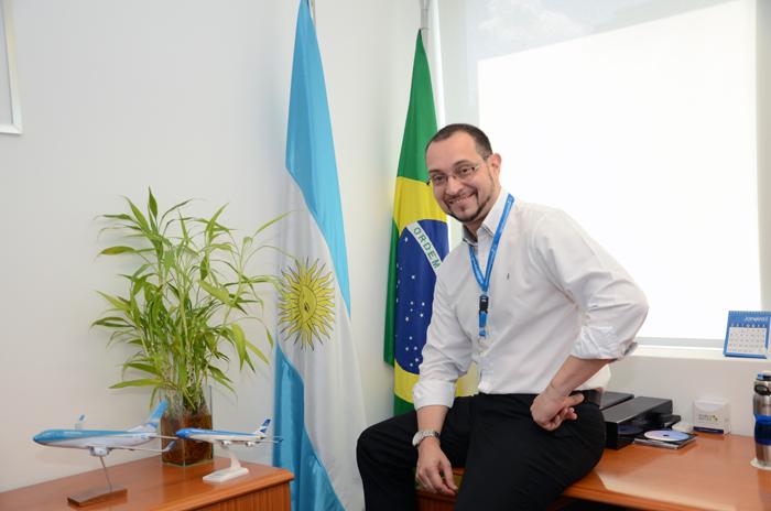 Diógenes Toloni, diretor da Aerolíneas Argentinas no Brasil (Foto: Eric Ribeiro)