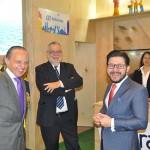 Embaixador Pompeo Andreucci e Gilson Lira visitam o estande do Ceará na Fitur 2019, com Enrique Martin-Ambrósio, da Abrescco