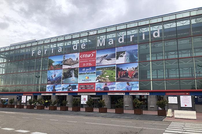 Entrada da Fitur 2019, em Madri