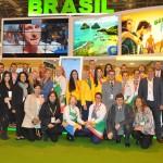 Equipe de expositores e colaboradores do Estande do Brasil na Fitur 2019, realizada entre os dias 23 e 27 de janeiro
