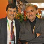 Eros Tozetto, secretário de Turismo de Campo Magno - PR, e Aloisio Mendes, da AMTours