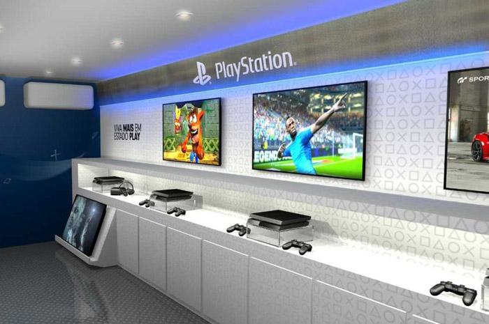 Espaço contará com quatro estações do Play Station 4