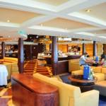 Espaço exclusivo do Yacht Club comidas e bebidas