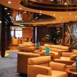 Espaço para relaxar na área exclusiva do Yacht Club