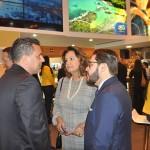 Gilmar Piolla, secretário de Turismo de Foz do Iguaçu, com Teté Bezerra e Gilson Lira, presidente e diretor da Embratur