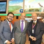Gilson Lira, da Embratur, Pompeo Andreucci, embaixador do Brasil na Espanha, e Abdon Barreto, diretor de Turismo do Rio Grande do Sul