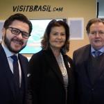 Gilson Lira e Teté Bezerra, da Embratur, com o cônsul do Brasil em Madrid, Renan Leite Paes Barreto