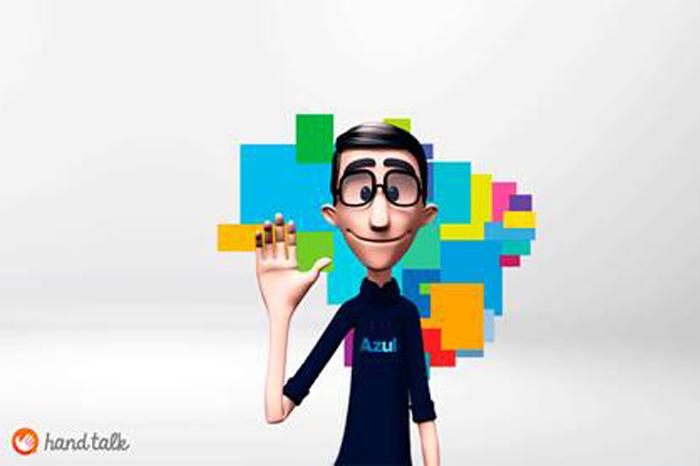 Hugo é o intérprete 3D da Azul