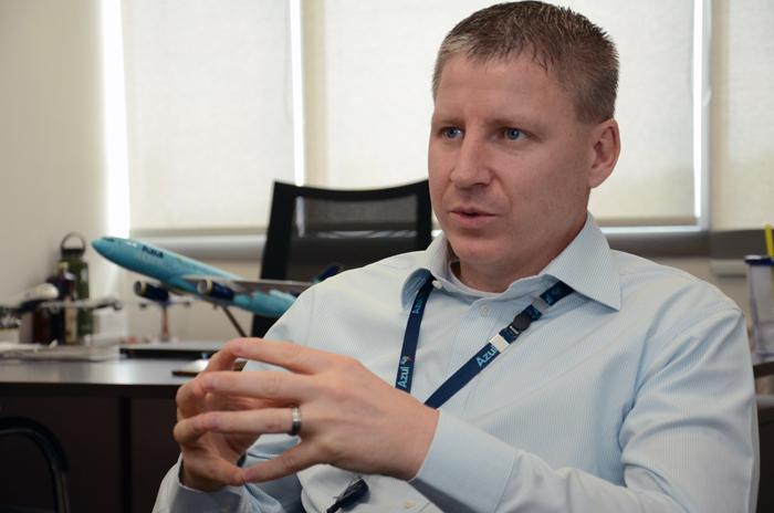 John Rodgerson, presidente da Azul (Foto Eric Ribeiro/M&E)