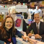 José Geraldo Filho, coordenador Comercial do Windsor, com Ana Maria Turcato, Latin SLR