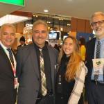 José Geraldo Filho, da Windsor Hotéis, Aloisio Mendes e Victoria Mendes, da AMTours e Sidney Linhares, da Del Bianco