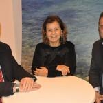 Marcio Favilla, da OMT, Teté Bezerra presidente da Embratur, e Gilmar Piolla, secretário de Turismo de Foz do Iguaçu