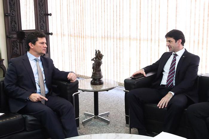 Ministros Sérgio Moro e Marcelo Álvaro Antônio discutiram medidas para a redução dos índices de violência Foto-Roberto Castro
