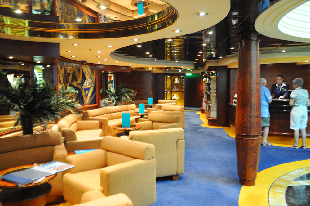 Recepção exclusiva do MSC Yacht Club do Fantasia
