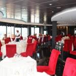 Restaurante L'Etoile é exclusivo do Yacht Club para almoço e jantar a lá carte