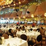 Restaurante Taurus, o principal do Costa Luminosa para refeições a la carte