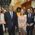 Reyes Maroto, ministra do Turismo da Espanha, Zurab Pololikashvili, secretário-geral da OMT, e Ana Pastor, presidente do Congresso espanhol, com Gilson Lira e Teté Bezerra, da Embratur
