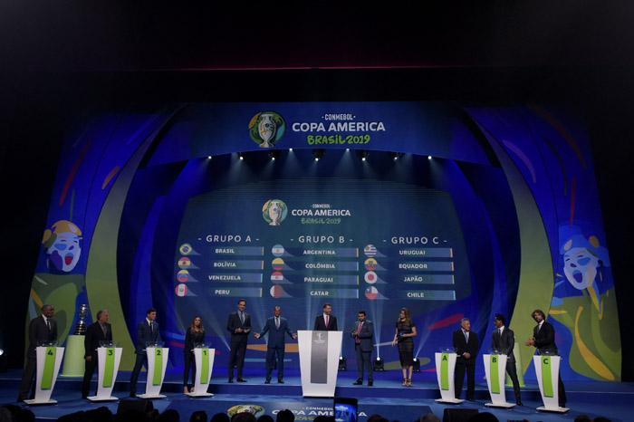 Sorteio que definiu os grupos da Copa América aconteceu no último dia 24 de janeiro