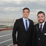 Vinicius Costa, gerente de Contas da Costa Cruzeiros, e Michel Saldanha, Hospitality Operator do Costa Luminosa