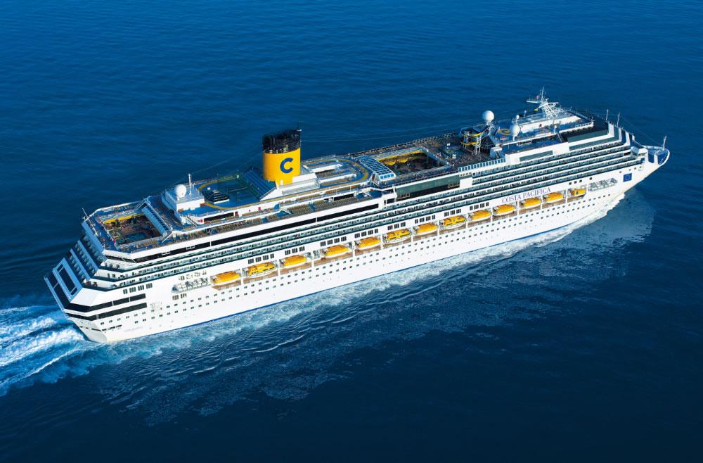 Costa Pacifica fará cruzeiros na América do Sul após dois anos navegando pelo Caribe