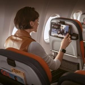 Com a plataforma GOL Online, de conectividade e entretenimento a bordo, os Clientes puderam ainda aproveitar em suas viagens uma ampla oferta de filmes, séries e programas da TV ao Vivo