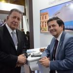 Alexandre Sampaio, da FBHA, e Otávio Leite, secretario de Turismo do Rio de Janeiro