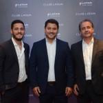 Antenor Soares, da Latam, entre, Marcelo e Helvécio Garófalo, da Confiança
