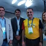 Antonio Baptista, secretário executivo da Secretaria de Turismo de PE, José Neves, VP da Empetur, Claiton Armelin, Milu Megale, Dir de Mkt da Empetur