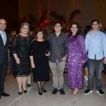 Antonio Dias, Fatima Nadelicci, Célia Dias, Camila Dias, Luiz Felipe e João Pedro Dias, e Gustavo