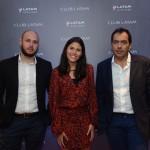 Aricia Silva, da Latam, entre Rafael Souza e Thomas Peres, da Teresa Peres