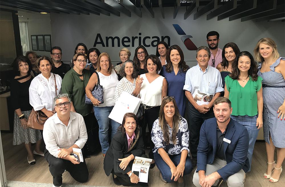 Capacitação reuniu agentes de viagens no escritório da American AIrlines no Rio