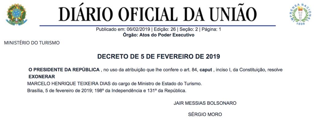 Exoneração Marcelo Alvaro