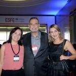 Carolina Negri, do Sindepat, Inbrahim Georges Tahtouth, da IT Mice, e Luciane Leite, da WTM-LA