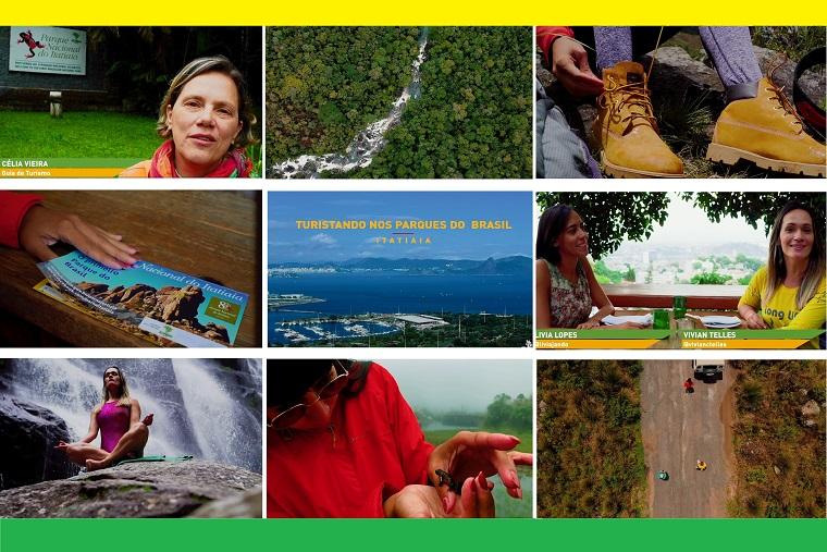 """Cenas dos primeiros episódios da série """"Turistando nos Parques"""" (Foto: divulgação/MTur)"""
