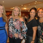 Claudia Câmara, da Mix Agency, Luciane Proença, da MGF Turismo, Rosana Bomfim, da RBM, e Cátia Maginário, da Let's Go Travel