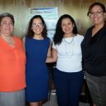 Corinne Delpech, da 7South, Aline Paschoal, da GVA, Tais Silva, da Abreu, e Charlene Campbell, da Maia