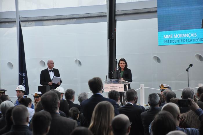 Christelle Morançais, Presidente do Conselho Regional da região de Pays de la Loire agradeceu a visibilidade que o setor de construção naval trouxe para a região
