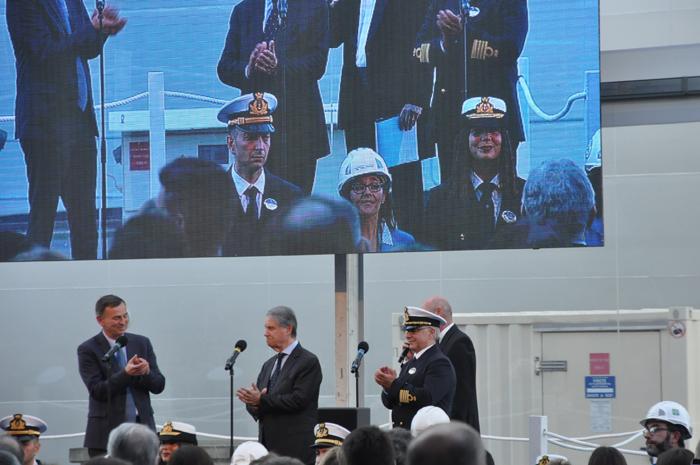 Chantiers de l'Atlantique entregou o novo navio para a MSC na tarde desta quarta-feira