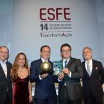 Doria recebeu homenagem do Esfe pela contribuição com o setor