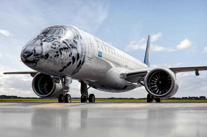 Novo jato E-Jets E2 da Air Astana