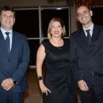 Ederaldo Kosa, da Linhas Comunicação, Ana Luiza Masagão Menezes e Thiago Maya, do Royal Palm Hotels & Reorts