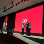 Eduardo Bernardes, vice-presidente da GOL, entre Emerson Belan e Fábio Mader, da CVC
