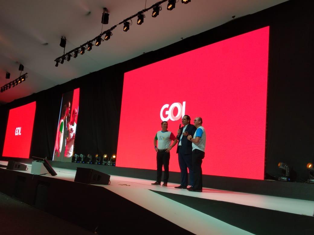 Eduardo Bernardes, vice-presidente da Gol falou sobre os 12 anos de parceria com a CVC, ao lado de Emerson Belan e Fábio Mader