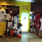 Equipe de teatro da Vila Galé, animando o treinamento com a cultura nordestina