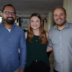 Fernando Pigoretti e Juliana Almeida, da Teresa Perez Tours, e Gabriel Castiglione, da TTW Group