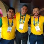 Franqueados Rodrigo Garcia, de Mogi das Cruzes, Rodolfo Ferreira, master de Tocantins e Thiago Mendes, franqueado ABC Paulista